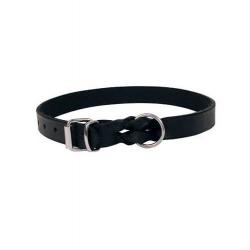 Collar Piel Escandinava Color Negro para Perro (1)