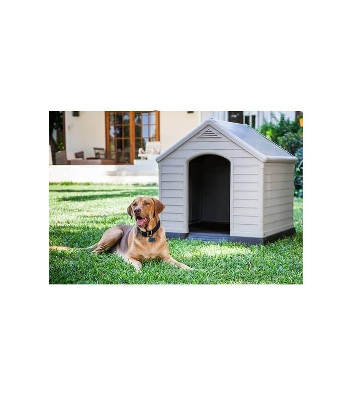 Karlie caseta keter para perro for Casetas para perros bricomart