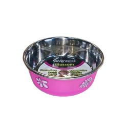 Comedero Inox Blossom Rosa para Perro (1)