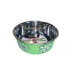 Comedero Inox Blossom Verde para Perro (1)