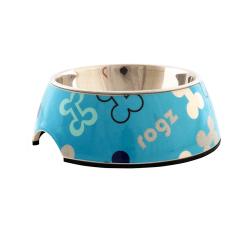 Comedero Inox Blue Bones para Perro (1)