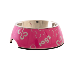 Comedero Inox Pink Bones para Perro (1)