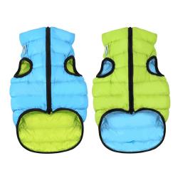 Abrigo Airyvest Reversible Verde-Azul para Perro