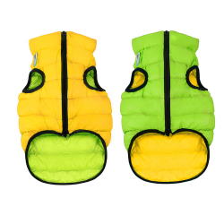 Abrigo Airyvest Reversible Verde-Amarillo para Perro