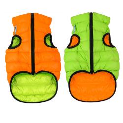 Abrigo Airyvest Reversible Verde-Naranja para Perro