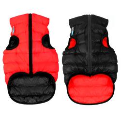 Abrigo Airyvest Reversible Negro-Rojo para Perro