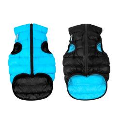 Abrigo Airyvest Reversible Negro-Azul para Perro