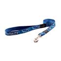 Correa Nylon con Tela Estampada Color Azul para Perro