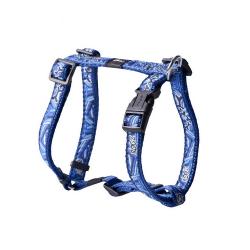 Rogz-Arnés Nylon con Tela Estampada Color Azul para Perro (1)
