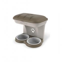 Comedero Doble con Portaobjetos para Perro (6)