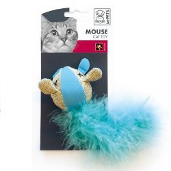 Ratón en Tela Fluorescente Colores Variados para Gato (6)