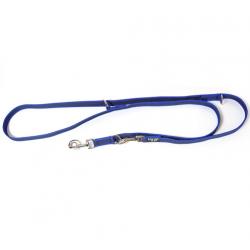 Correa Engomada Azul Doble para Perro