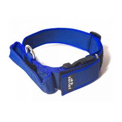 Julius K-9-Collar con Agarre Color Azul para Perro (1)