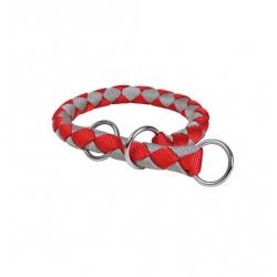 Collar Estrangulador Cavo Rojo-Plata para Perro (1)