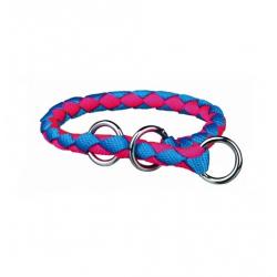 Collar Estrangulador Cavo Azul-Rosa Neón para Perro (1)