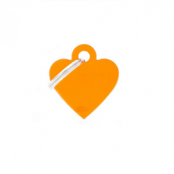 Heart Small Alluminum Orange (6)