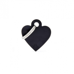 Heart Small Alluminum Black (6)
