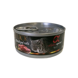 Alpha Spirit-Feline Adult Pato Sterilised 85 Gr Húmedo. (1)