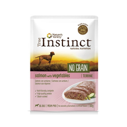 True Instinct-No Grain Medium Salmón con Verduras 300Gr Húmedo. (1)
