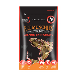 Snack Naturales Salmón Skin Chews Medium para Perro (4)