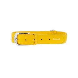 Collar Glamour en Piel Amarillo para Perro (6)
