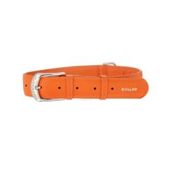 Collar Glamour en Piel Naranja para Perro (6)