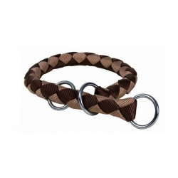 Collar Estrangulador Cavo Marrón-Beige para Perro (1)