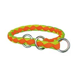 Collar Estrangulador Cavo Naranja-Amarillo neón para Perro (6)