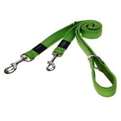 Correa Nylon Multiposición Verde Lima para Perro (6)