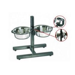 Soporte Regulable con dos Comederos para Perro (6)