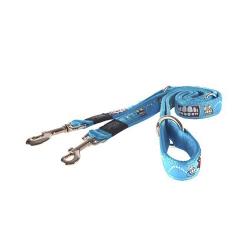 Correa Estampada Multiposición Azul para Perro (6)