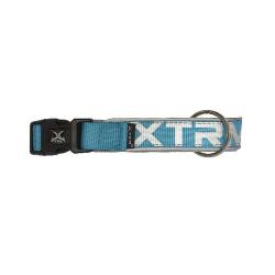 Collar X-TRM Nylon para Perro Color Azul Neón (6)