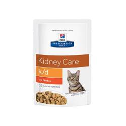 Hills Prescription Diet-PD Feline k/d con Pollo. Sobre 85 gr. (1)