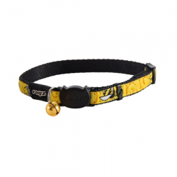Collar Nylon Estampado Amarillo para Gato (6)