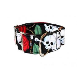 Collar Martingale Estampado Calaveras para Perro (6)