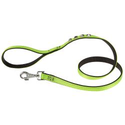 Correa Dual G20 110 Green Black para perros Ferplast