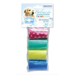 Bolsas de recambio para perros multicolor