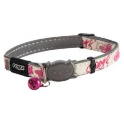 Collar Nylon Estampado de Mariposas en Rosa para Gato (1)