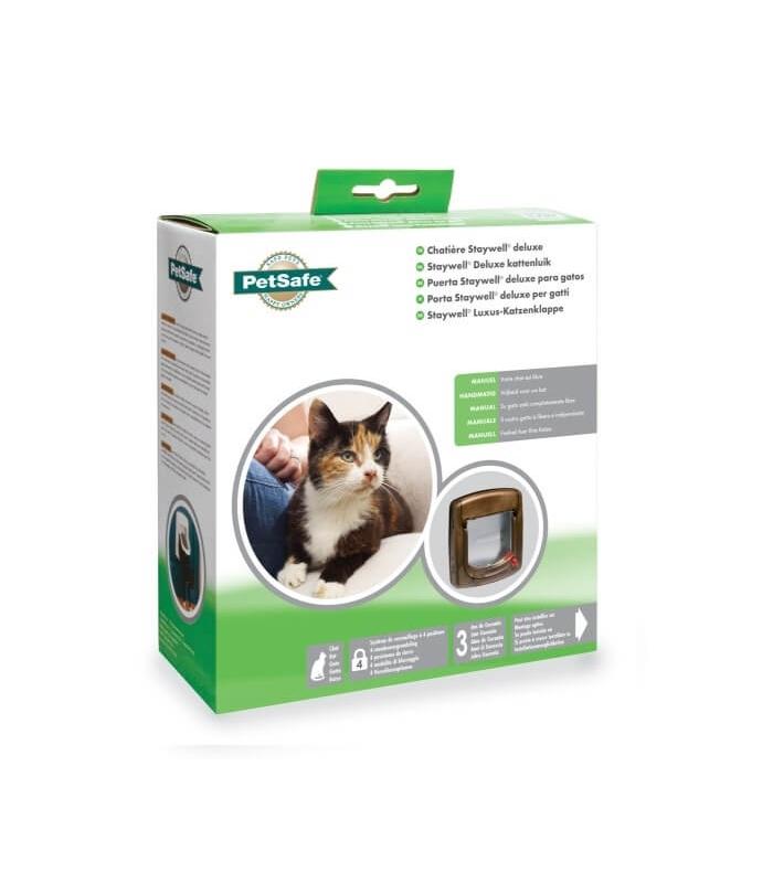 Petsafe puerta manual abatible para gato for Puertas para animales