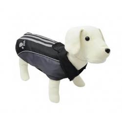 Abrigo Impermeable Huella Reflectante Negro para Perro (1)