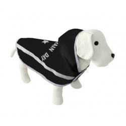 Capa Impermeable Enjoy Rain Negra con Forro Polar para Perro (1)